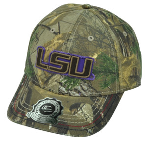 NCAA Louisiana State LSU Tigers Real Tree Camouflage Distressed Hat Cap