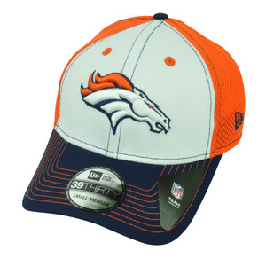 NFL New Era 39Thirty Denver Broncos 3930 Flex Fit Small Medium Hat Cap Orange