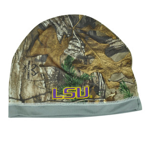 NCAA Louisiana State LSU Tigers Camouflage Reversible Cuffless Beanie Knit Camo