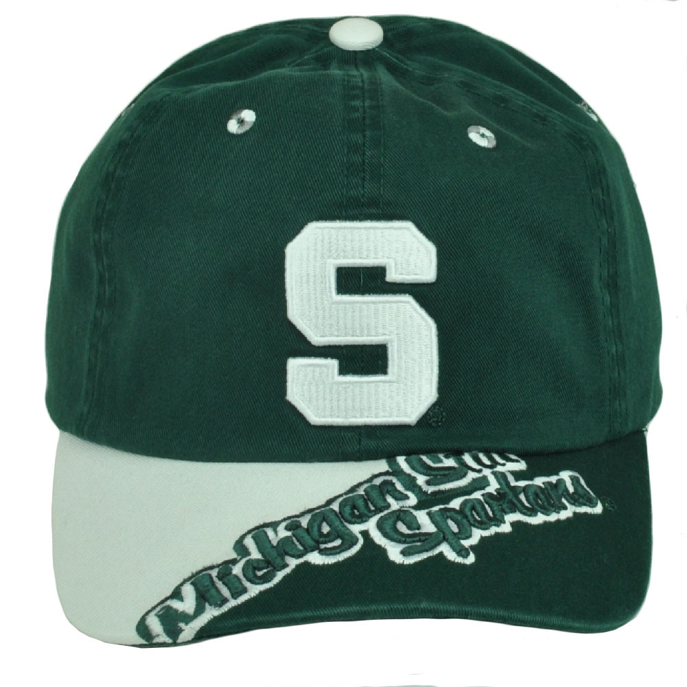 f728886370618 NCAA Michigan State Spartans Hat Cap Relaxed Slouch Green Garment ...
