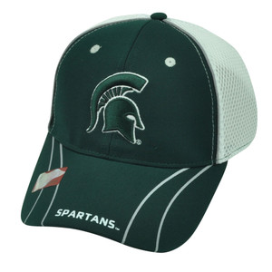 NCAA Michigan State Spartans Jersey Mesh Flex Fit  Medium Large Two Tone Hat Cap
