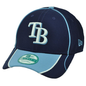MLB New Era 9Forty 940 Tampa Bay Rays Fan Wave Adjustable  Hat Cap Blue