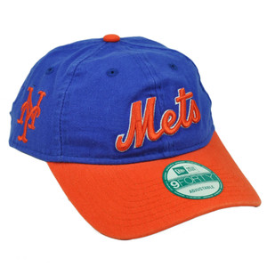 MLB New Era 9Forty 940 Team Canvas Clip Buckle New York Mets Hat Cap Relaxed Blue
