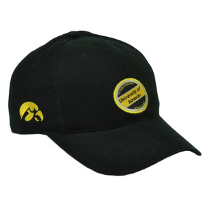 NCAA Iowa Hawkeyes Black  Hat Cap Est 1847 Adjustable Collage Fan Game