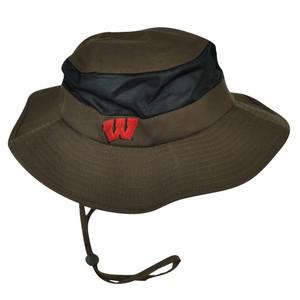 NCAA Wisconsin Badgers Flex Fit 2XLarge Sun Bucket Hat Fisherman Crusher Brown