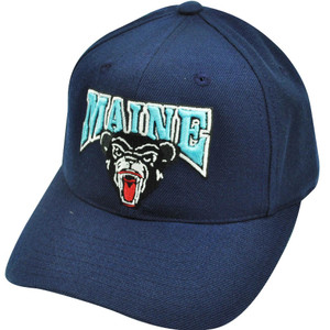 NCAA Maine Black Bears Fitted Size 6 7/8 American Needle Hat Cap Navy Blue Fan