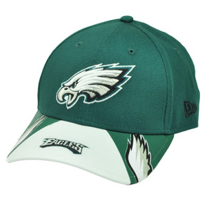 NFL New Era 9Forty 940 Jersey Play Philadelphia Eagles  Hat Cap Green Whit