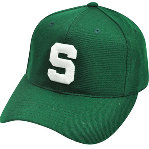 NCAA Michigan State Spartans American Needle Fitted Size 7 1/8 Green Hat Cap