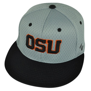 NCAA Oregon State Beavers Zephyr Flat Bill OSU Medium Large Hat Cap Grey Black