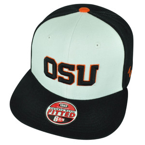NCAA Oregon State Beavers OSU Zephyr Fitted Size 6 3/4 Flat Bill Hat Cap 2Tone