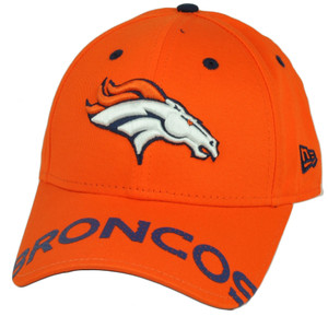 NFL New Era 9Forty 940 Word Pin Denver Broncos  Hat Cap Adjustable Orange