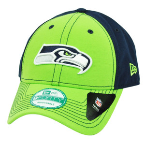 NFL New Era 9Forty 940 Seattle Seahawks 4th Down Snapback Hat Cap Navy Blue Green