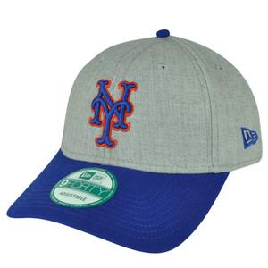 MLB New Era 9Fifty 950 League Heather New York Mets  Hat Cap Sports Gray