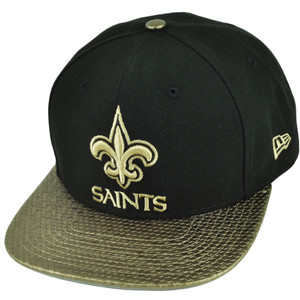 NFL New Era 9Fifty 950 Tile Vize New Orleans Saints Snapback Gold Black Hat Cap