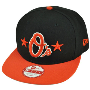 MLB New Era 9Fifty 950 Star Backed Baltimore Orioles Snapback Flat Bill Hat Cap