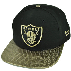 NFL New Era 9Fifty 950 Tile Vize Oakland Raiders Snapback Gold Black Hat Cap