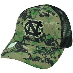 NCAA North Carolina Tar Heels Digital Camouflage Trucker Mesh Snapback Hat Cap