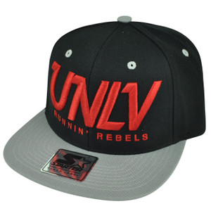 NCAA Starter UNLV Las Vegas Runnin Rebels Black Gold Snapback Flat Bill Sport