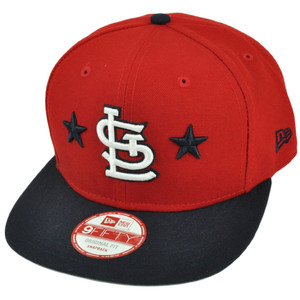 MLB New Era 9Fifty 950 Star Backed St. Louis Cardinals Snapback Red Hat Cap