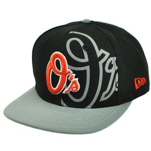 MLB New Era 9Fifty 950 2T Treasure Baltimore Orioles Snapback Reflective Hat Cap
