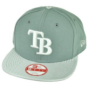 MLB New Era 9Fifty Flash Vize Tampa Bay Rays Snapback Hat Cap Flat Bill Gray