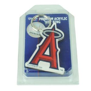 MLB Anaheim Angels Key Chain Logo Acrylic Ring Fans Sports Wincraft Red Baseball