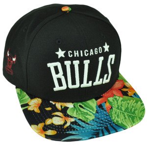 NBA New Era 9Fifty Botanic Chicago Bulls Snapback Tropical Floral Pattern Hat Cp