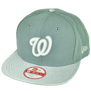 MLB New Era 9Fifty Flash Vize Washington Senators Snapback Hat Cap Flat Bill Gry