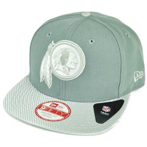 NFL New Era 9Fifty Flash Vize Washington Redskins Snapback Hat Cap Flat Bill Gry