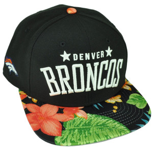 NFL New Era 9Fifty Botanic Denver Broncos Snapback Tropical Floral Hat Cap Blk