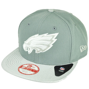NFL New Era 9Fifty Flash Vize Philadelphia Eagles Snapback Gry Hat Cap Flat Bill
