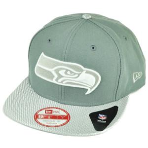 NFL New Era 9Fifty Flash Vize Seattle Seahawks Snapback Hat Cap Flat Bill Gray
