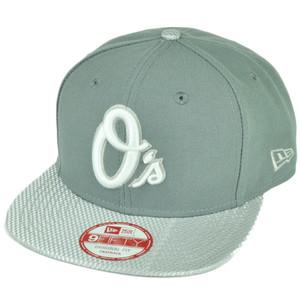 MLB New Era 9Fifty Flash Vize Baltimore Orioles Snapback Hat Cap Flat Bill Gray