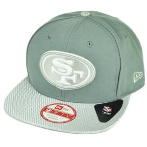 NFL New Era 9Fifty Flash Vize San Francisco 49er Snapback Hat Cap Flat Bill Gray