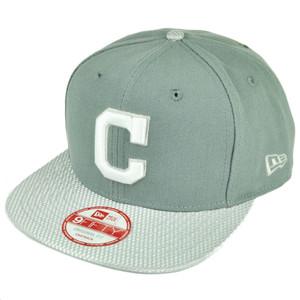 MLB New Era 9Fifty Flash Vize Cleveland Indians Snapback Hat Cap Flat Bill Gry