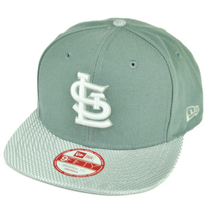 MLB New Era 9Fifty Flash Vize St Louis Cardinals Snapback Hat Cap Flat Bill Gray