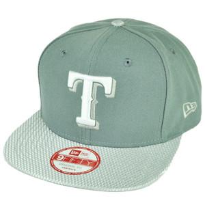 MLB New Era 9Fifty Flash Vize Texas Rangers Snapback Hat Cap Flat Bill Gray