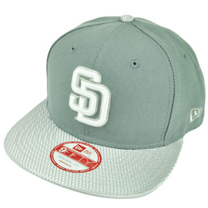 MLB New Era 9Fifty Flash Vize San Diego Padres Snapback Hat Cap Flat Bill Gray
