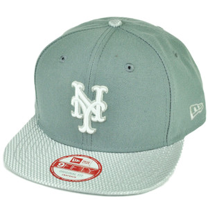 MLB New Era 9Fifty Flash Vize New York Mets Snapback Hat Cap Flat Bill Gray