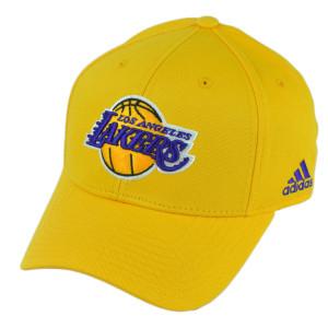 NBA Adidas Los Angeles Lakers LA  Yellow Hat Cap Adjustable Sport HWC