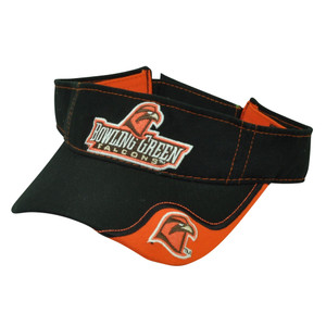 NCAA Bowling Green Falcons Sun Visor Hat Sport Game Blk Orange  Adjustable