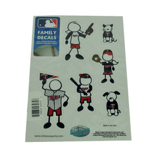 MLB Minnesota Twins Family Decal Set Small Car Repositionable Vinyl Automobile