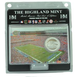NCAA Florida Gators Highland Mint Silver Coin Card 4x6 Plated Medallion Fan Sport