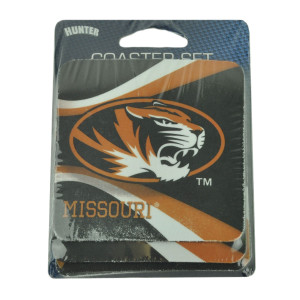 NCAA Missouri Tigers Absorbent Coasters Set 4 Drinks Beverage Table Foam Mizzou