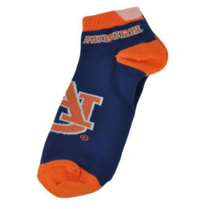 NCAA Auburn Tigers Ankle Womens Socks Medium 6-11 Blue Orange Game Day Spirit