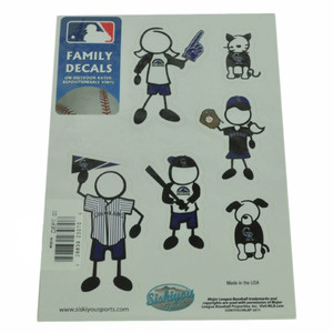 MLB Colorado Rockies Family Decal Set Car Fan Repositionable Vinyl Automobile