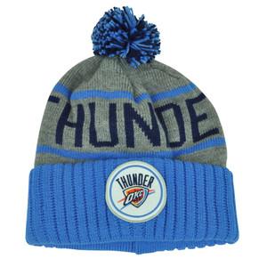 NBA Mitchell Ness KJ58 Oklahoma City Thunder Cuffed Pom Pom Knit Beanie Skully