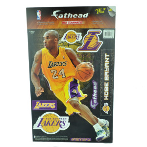 NBA Los Angeles Lakers LA Kobe Bryant Reusable Wall Device Sticker Decal Yellow