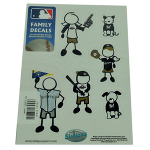 MLB Milwaukee Brewers Family Decal Set Car Fan Repositionable Vinyl Automobile
