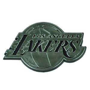 NBA Los Angeles Lakers Automotive Emblem Vehicles Cars Silver3D Pro Mark Chrome